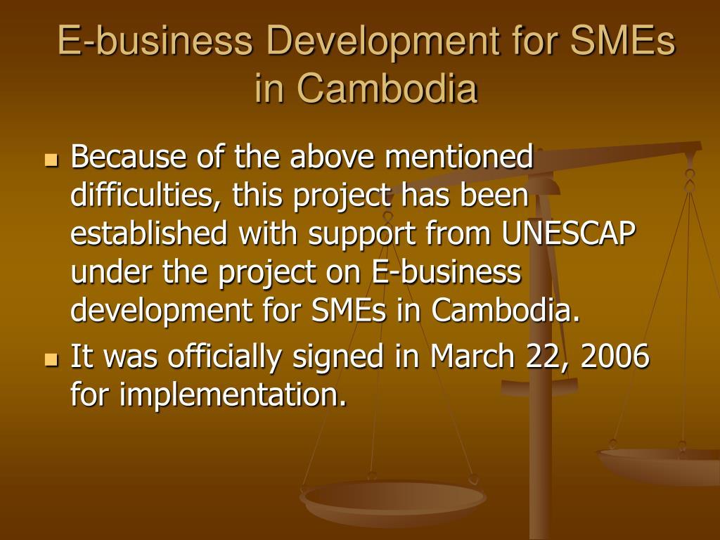E-business Development for SMEs in Cambodia