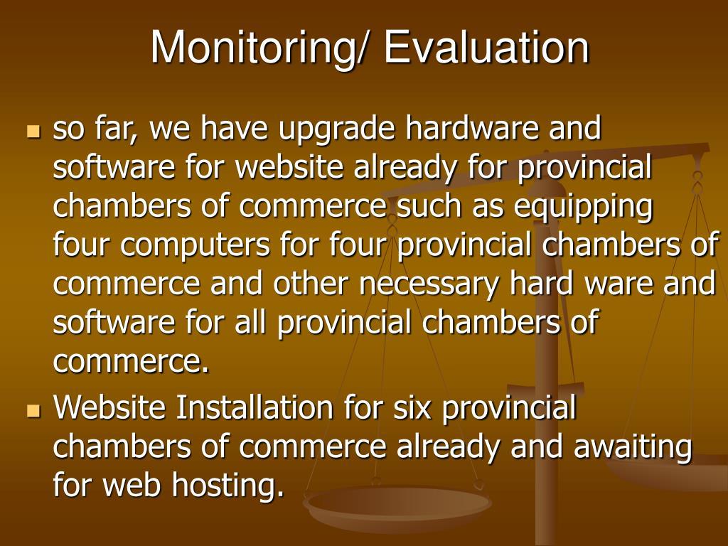 Monitoring/ Evaluation