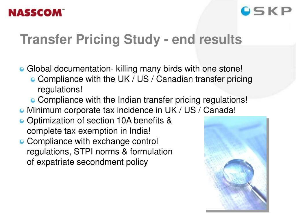 Transfer Pricing Study - end results