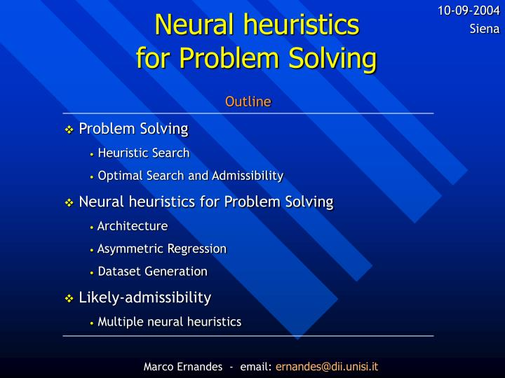 Neural heuristics for problem solving