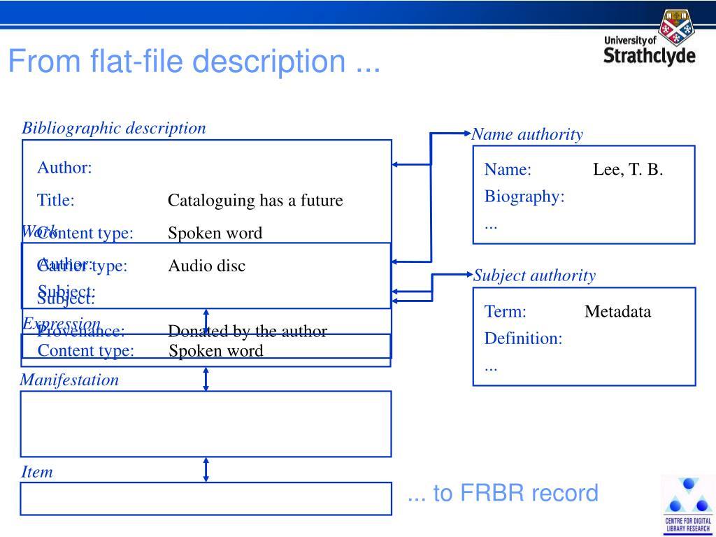 From flat-file description ...