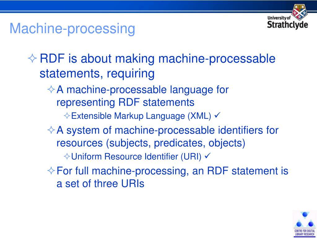 Machine-processing