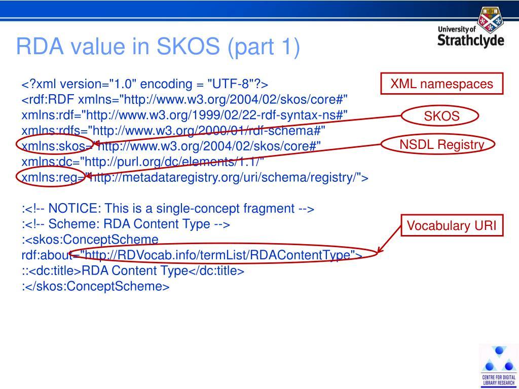 RDA value in SKOS (part 1)