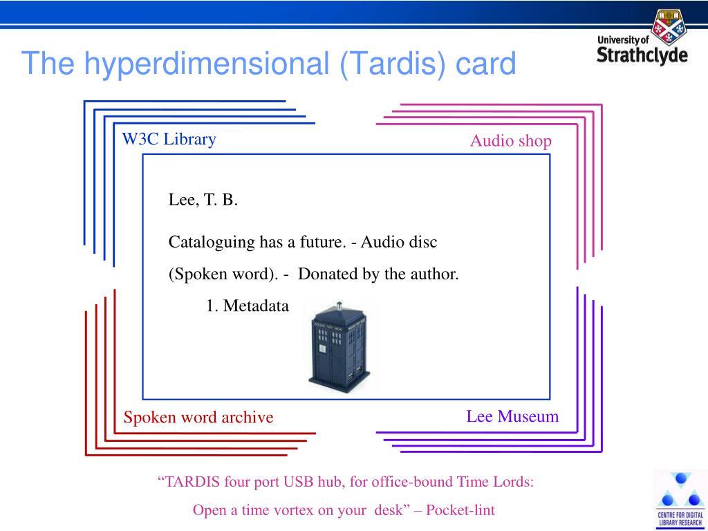 The hyperdimensional (Tardis) card