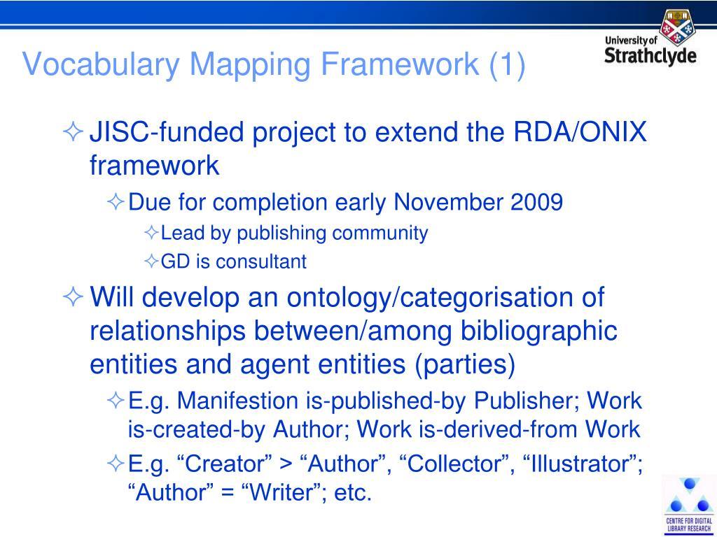 Vocabulary Mapping Framework (1)