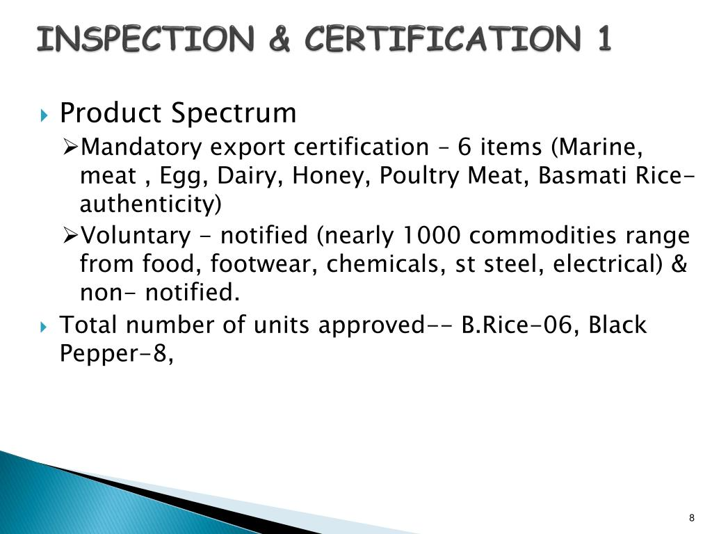 INSPECTION & CERTIFICATION 1