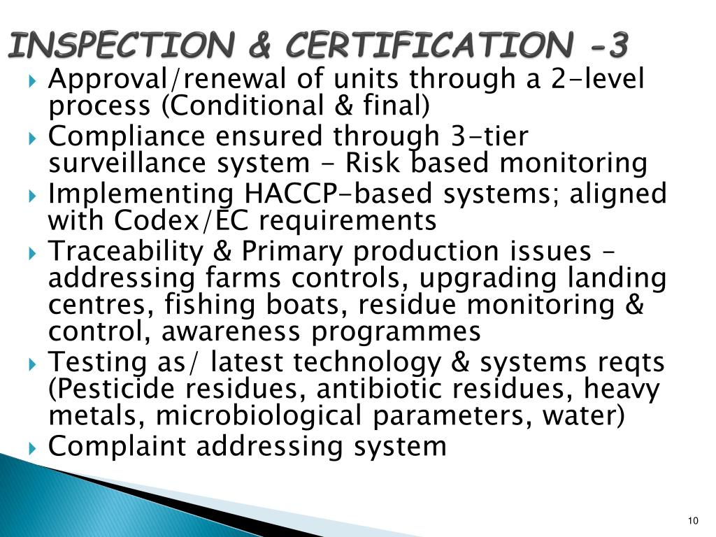 INSPECTION & CERTIFICATION -3