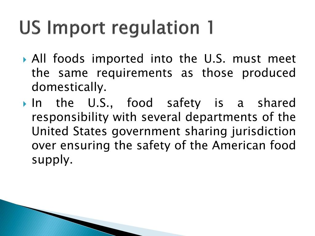 US Import regulation 1