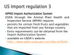 us import regulation 3