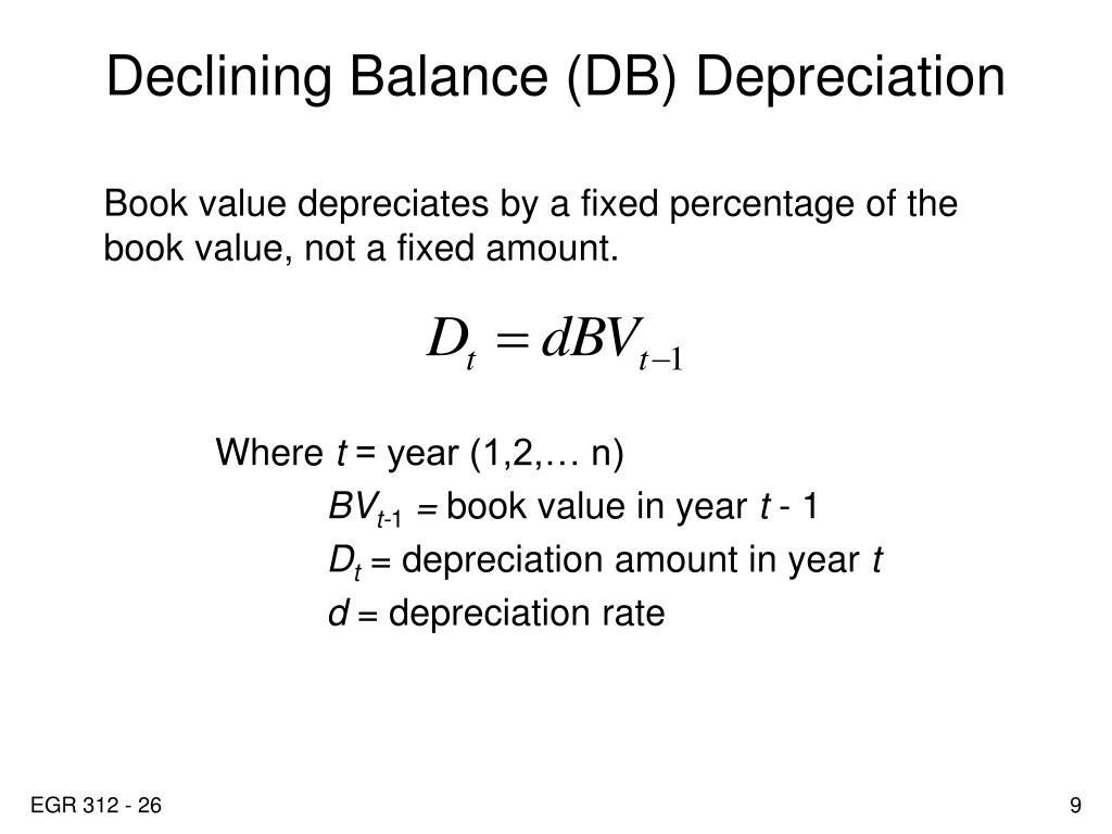 Declining Balance (DB) Depreciation