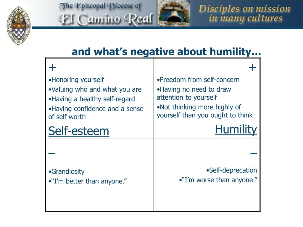 and what's negative about humility…