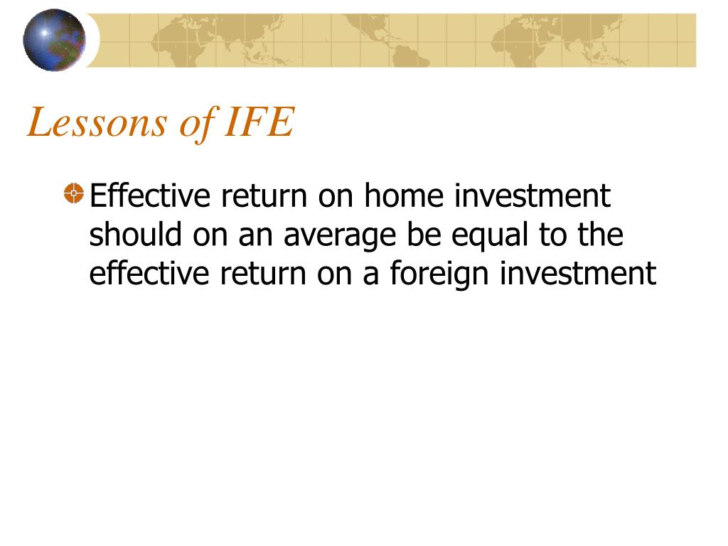 Lessons of IFE