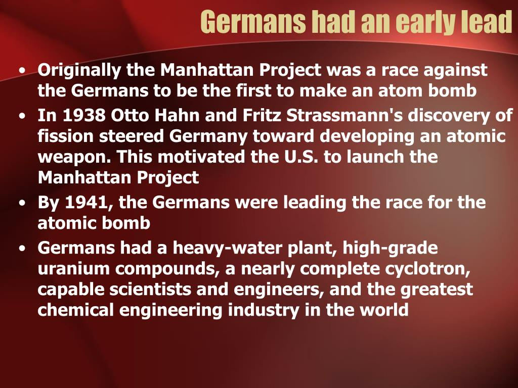Germans had an early lead