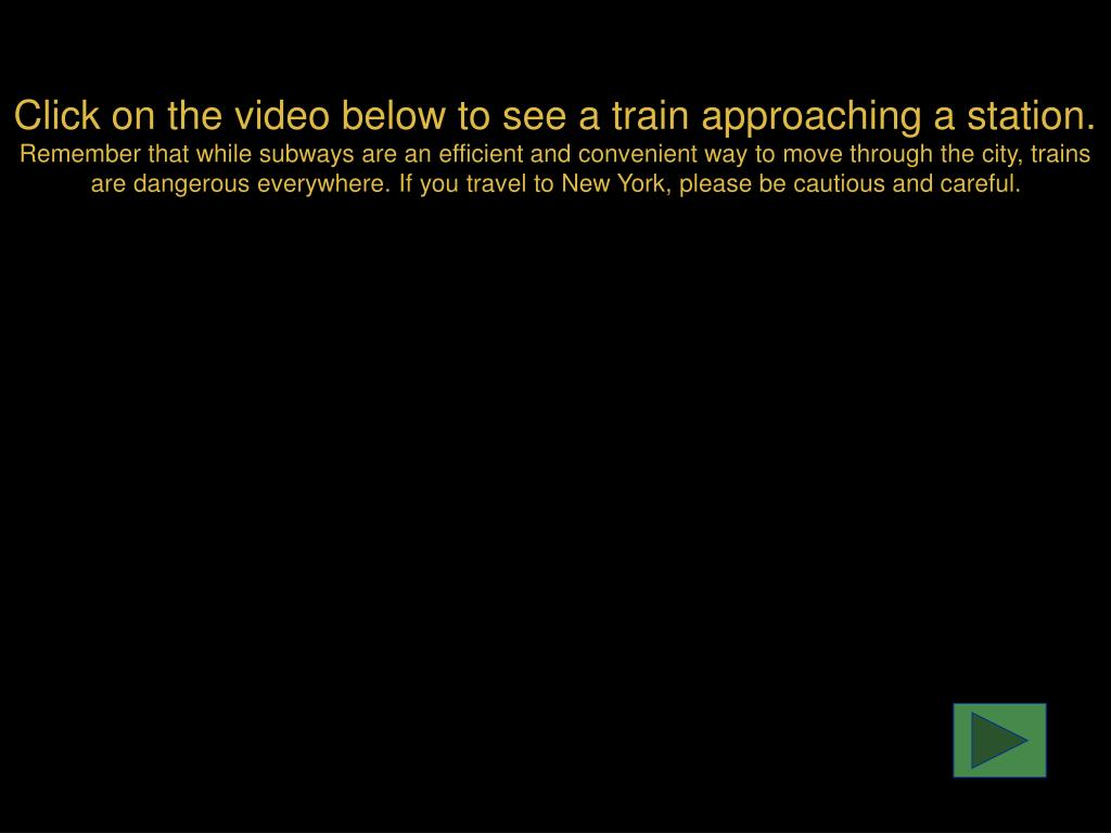 Click on the video below to see a train approaching a station.