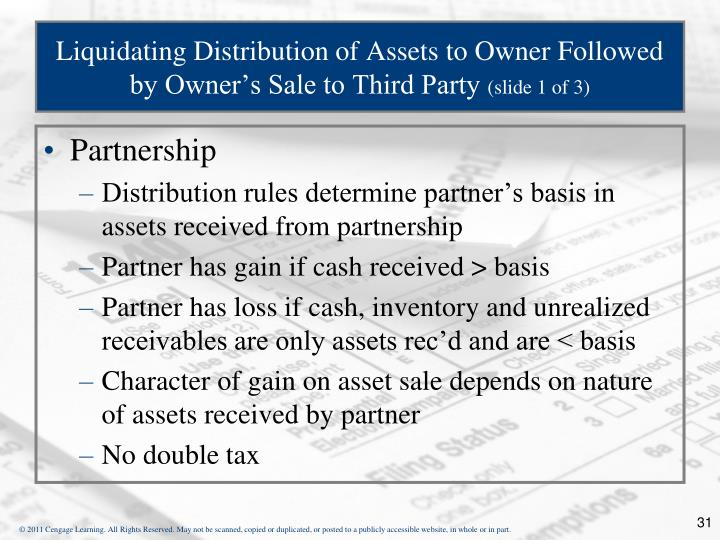 Liquidating Distribution of Assets to Owner Followed by Owner's Sale to Third Party