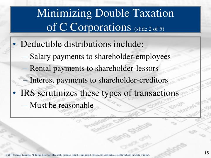 Minimizing Double Taxation