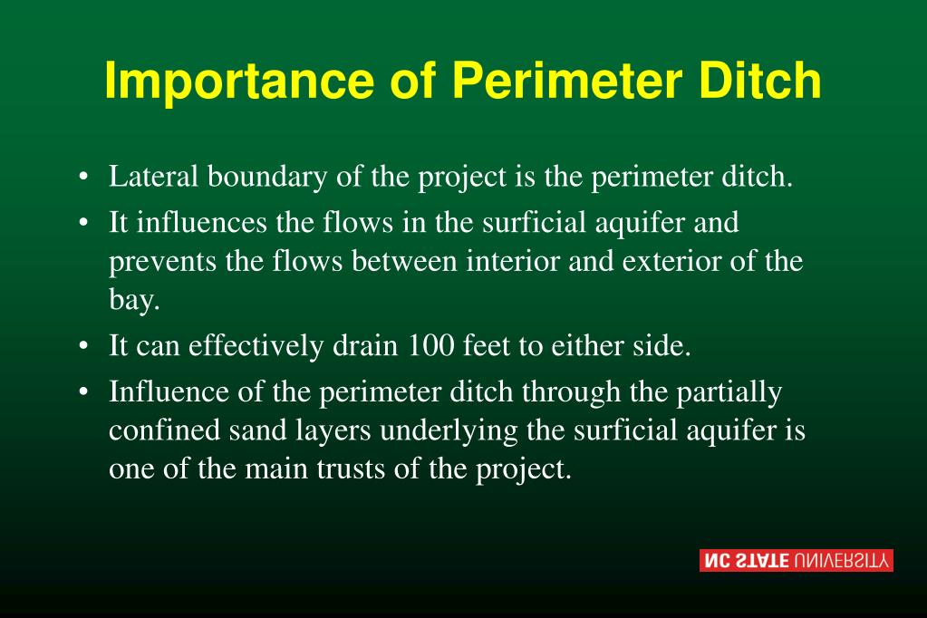 Importance of Perimeter Ditch