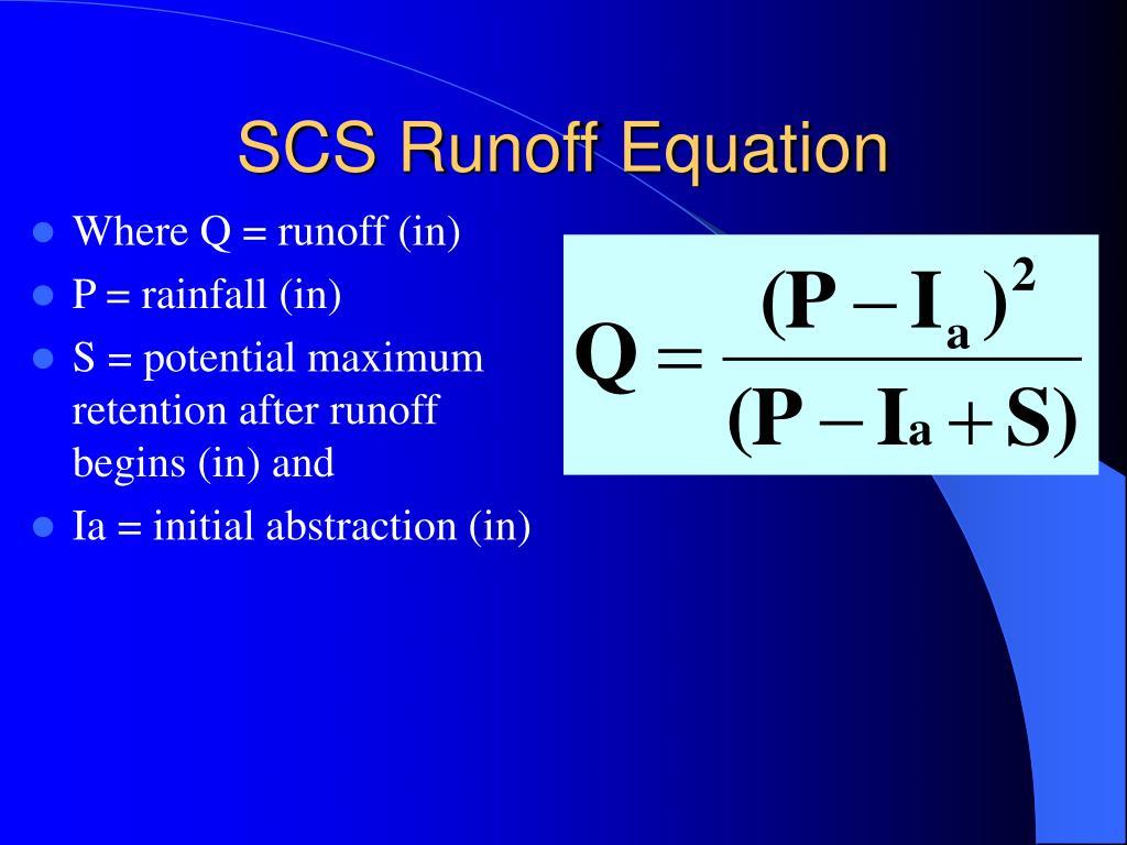 SCS Runoff Equation