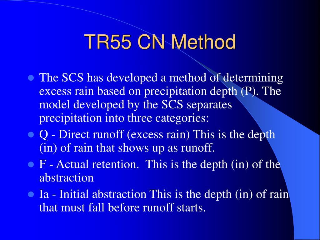TR55 CN Method