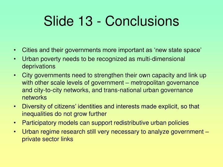 Slide 13 - Conclusions