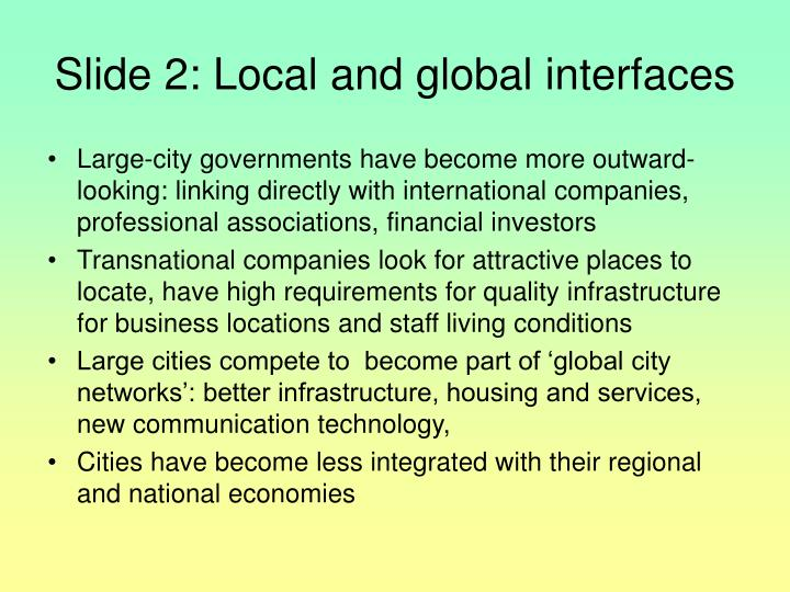 Slide 2 local and global interfaces