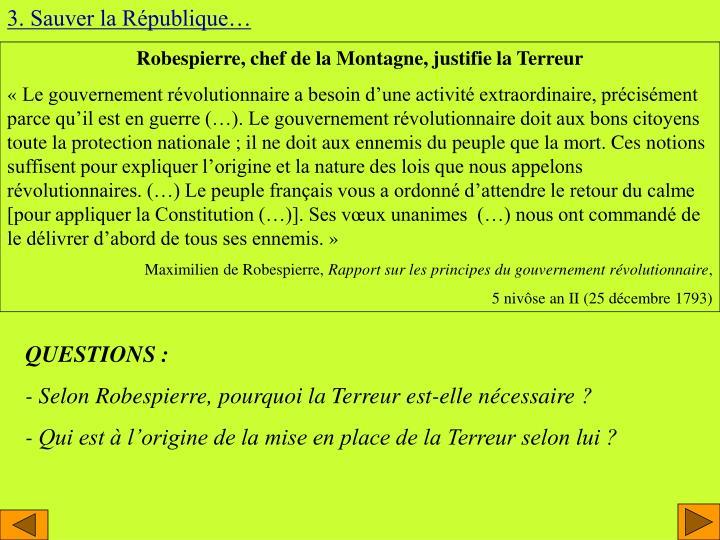 3. Sauver la République…
