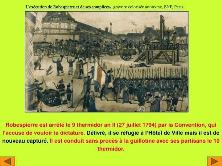 L'exécution de Robespierre et de ses complices