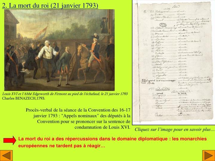2. La mort du roi (21 janvier 1793)