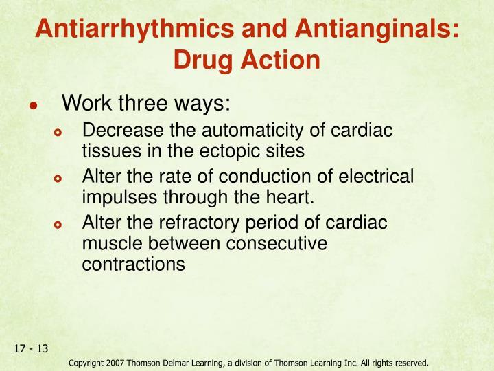 Antiarrhythmics and Antianginals: Drug Action