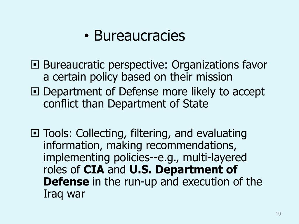 Bureaucracies