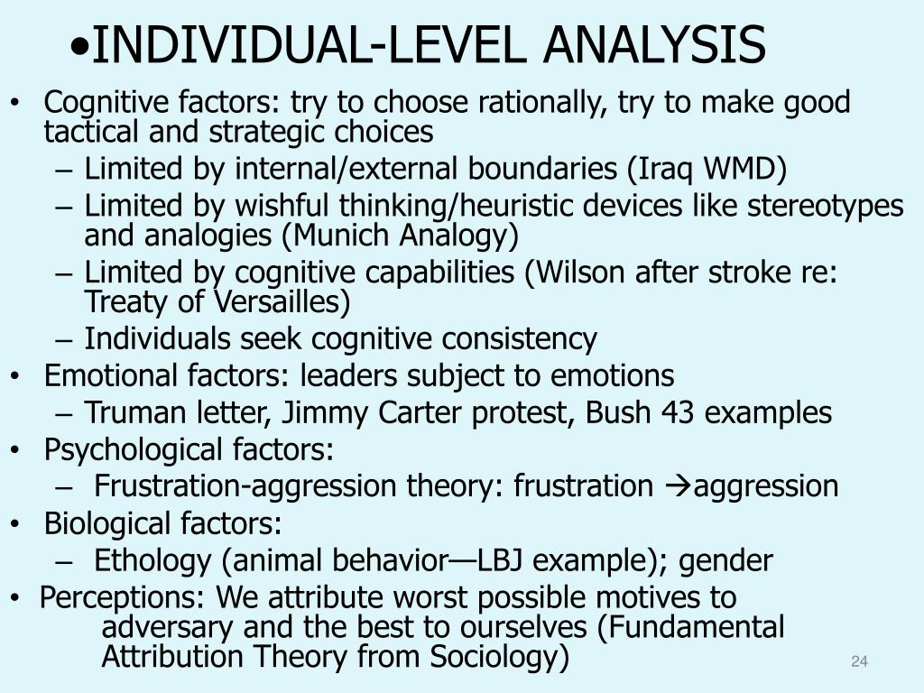 INDIVIDUAL-LEVEL ANALYSIS