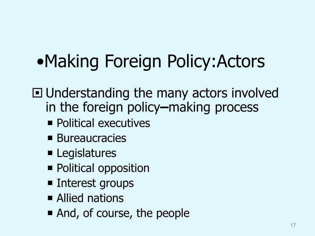 Making Foreign Policy:Actors