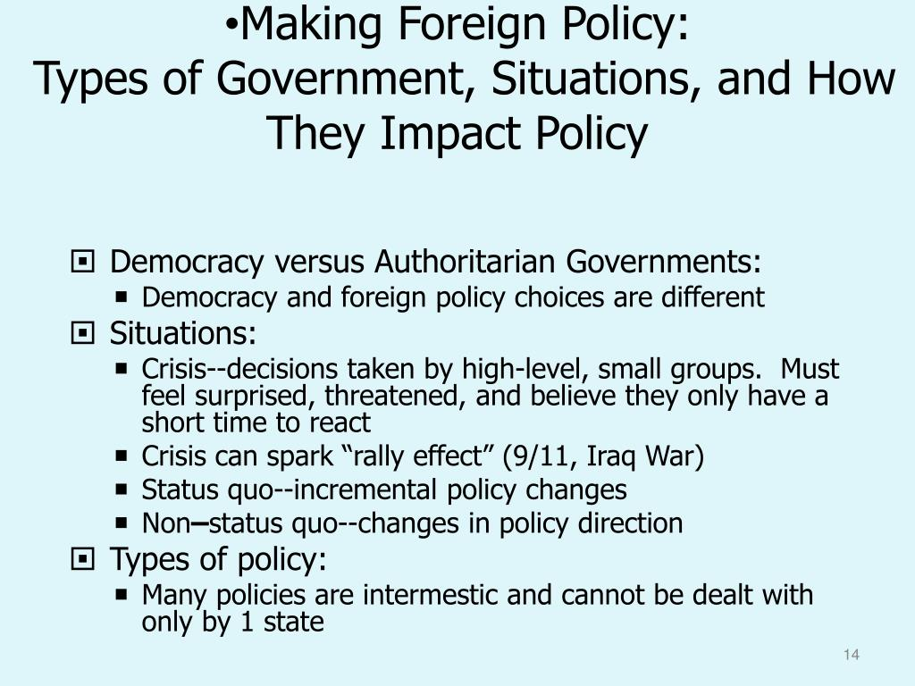 Making Foreign Policy: