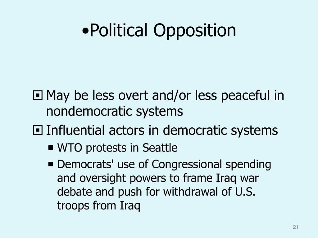 Political Opposition