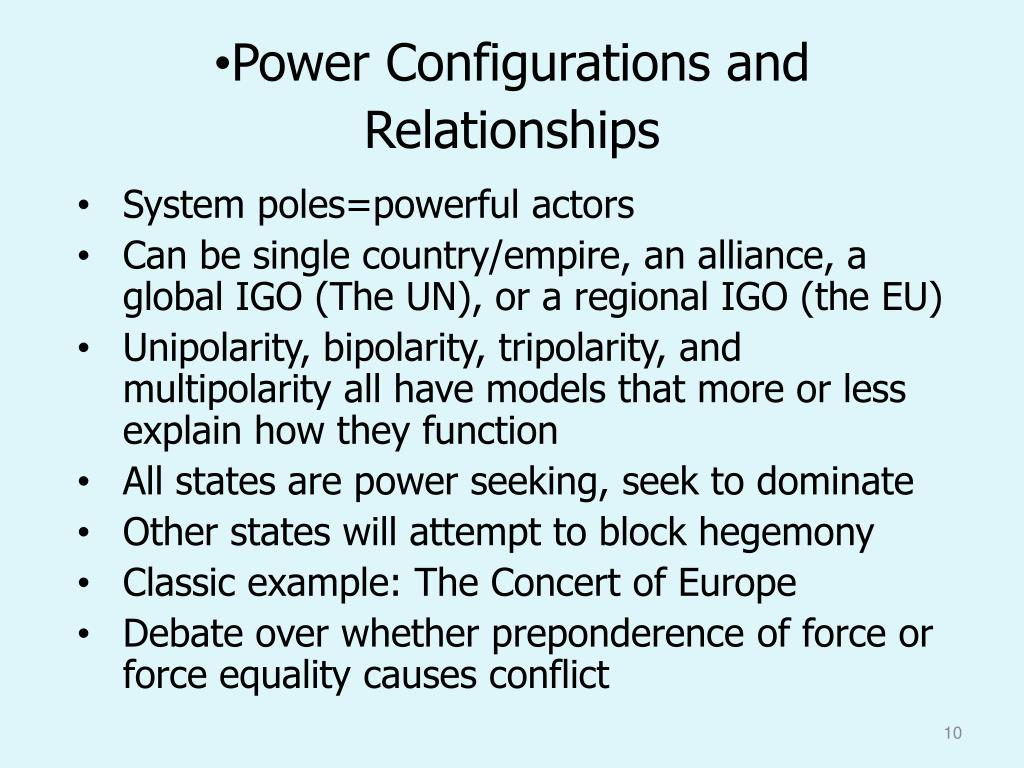 Power Configurations and  Relationships