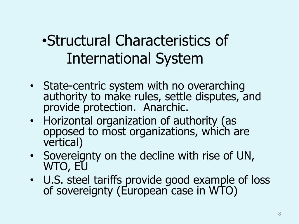 Structural Characteristics of  International System