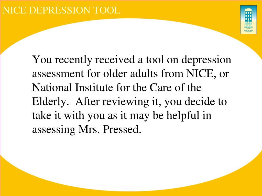 NICE DEPRESSION TOOL