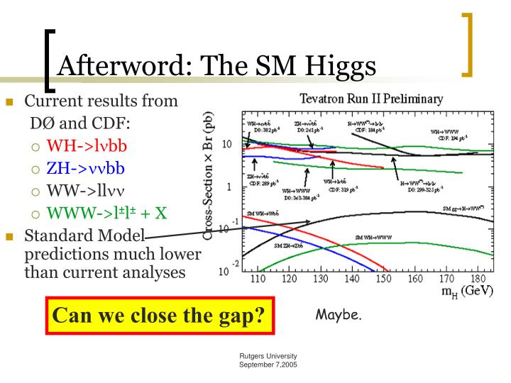 Afterword: The SM Higgs