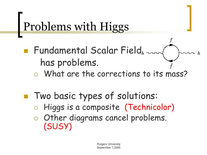 Problems with Higgs