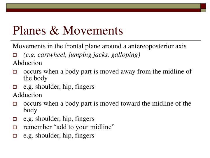Planes & Movements