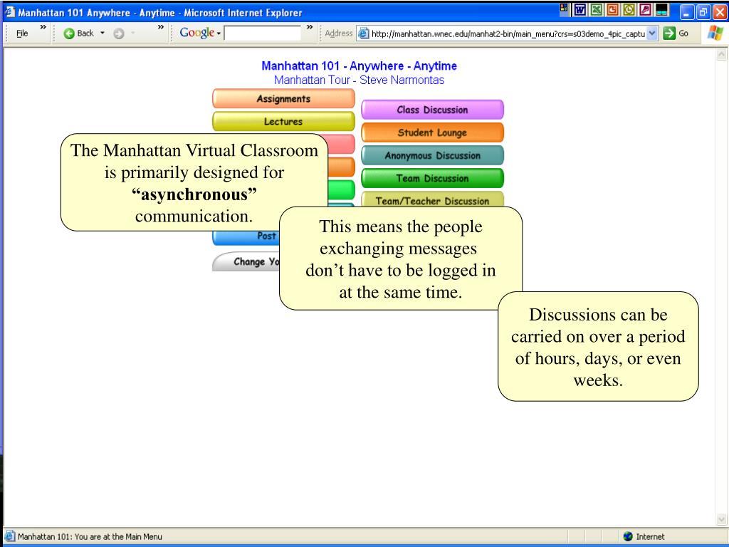 The Manhattan Virtual Classroom