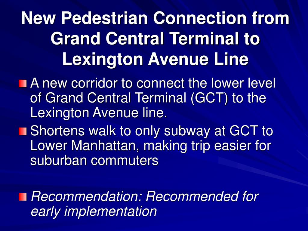 New Pedestrian Connection from Grand Central Terminal to Lexington Avenue Line