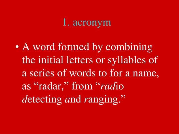 1. acronym