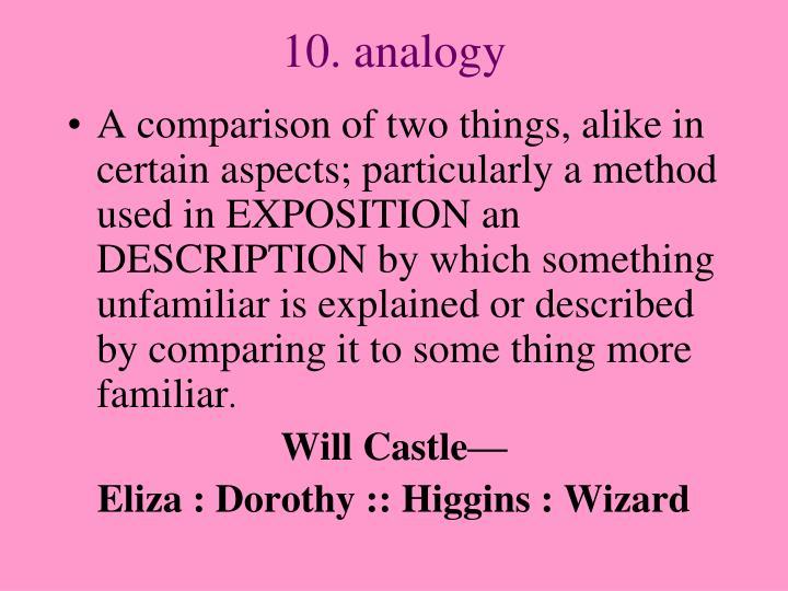 10. analogy