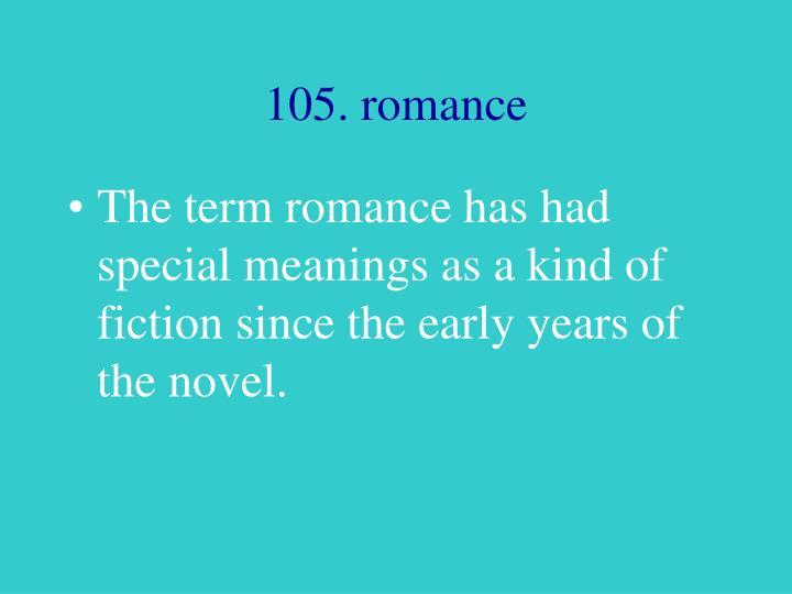 105. romance