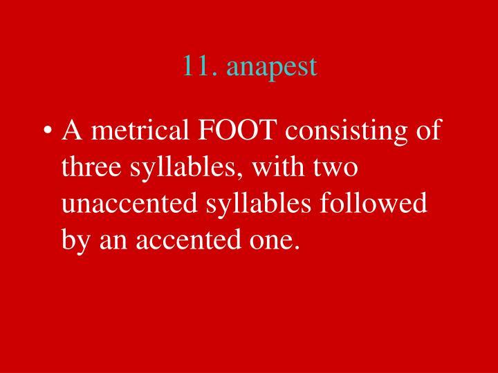 11. anapest
