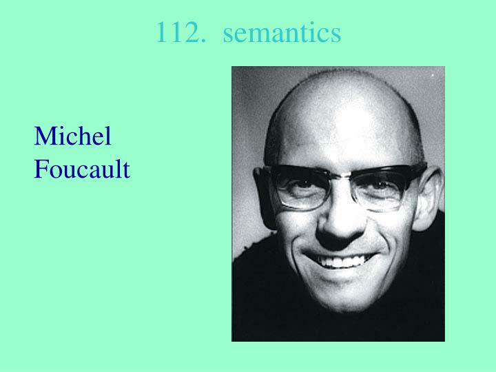 112.  semantics