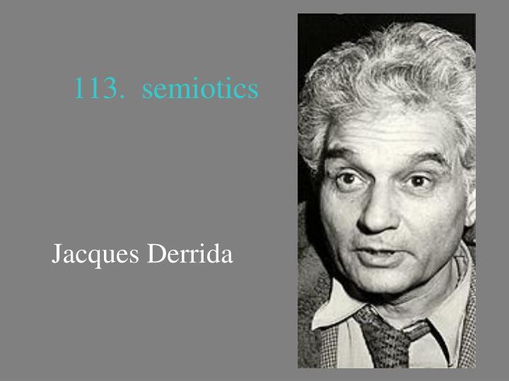 113.  semiotics