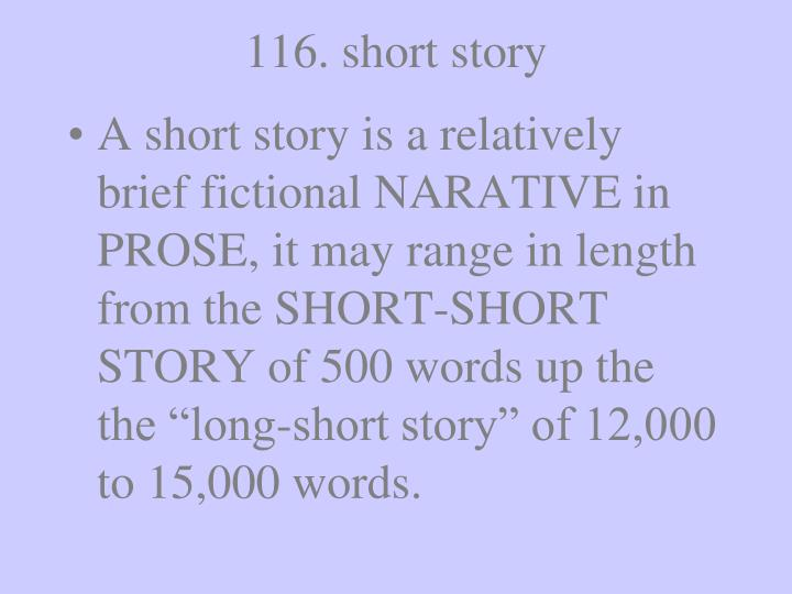 116. short story