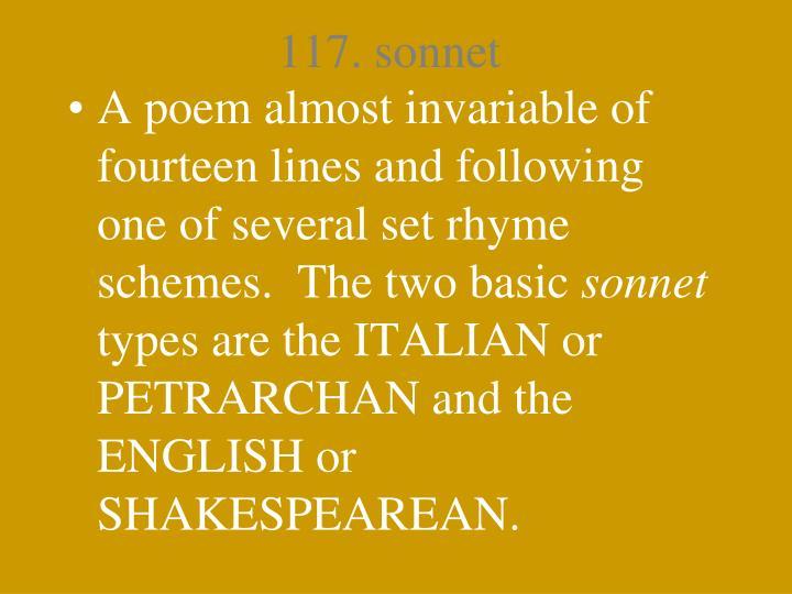 117. sonnet